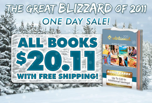 The Great Blizzard of 2011 One Day Sale! ALL BOOKS $20.11 with FREE SHIPPING!